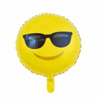 Álblaðra - Kringlótt 45cm - Emoji með sólgleraugu image