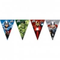 Fánalengja - Avengers - 9 plast fánar 2,3m. image