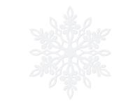 Borðskraut - Frostrósir - 13 cm - 10 stk - Hvítar sanseraðar image