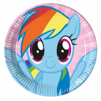 Pappadiskar - Little Pony Rainbow - 22cm, 8stk. image