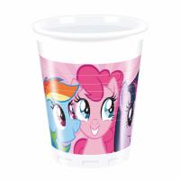 Plast glös - Little Pony Rainbow - 200ml., 8stk. image