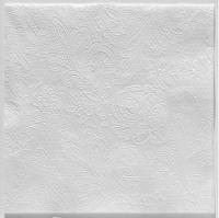 Servíettur - PPD - Lace Embossed Hvítar 33x33cm 15 stk. image