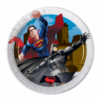 Pappadiskar - Batman vs. Superman - 20cm, 8stk. image