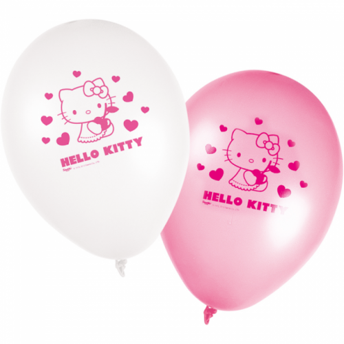 Blöðrur 25cm - Hello Kitty 8 stk