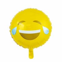 Álblaðra - Kringlótt 45cm - Emoji hlæjandi image